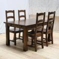エクステーションテーブル  5点セット(テーブル+チェア4脚) TYD039/TYB020(DBR)