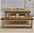 ダイニングセット 4点セット(テーブル+チェア2脚+ベンチ1脚) TYD039/TYB020/TYB007(IV)