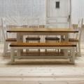 ダイニングセット 6点セット(テーブル+チェア4脚+ベンチ1脚) TYD039/TYB020/TYB007(IV)