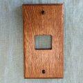 wood plain switch plate 1口