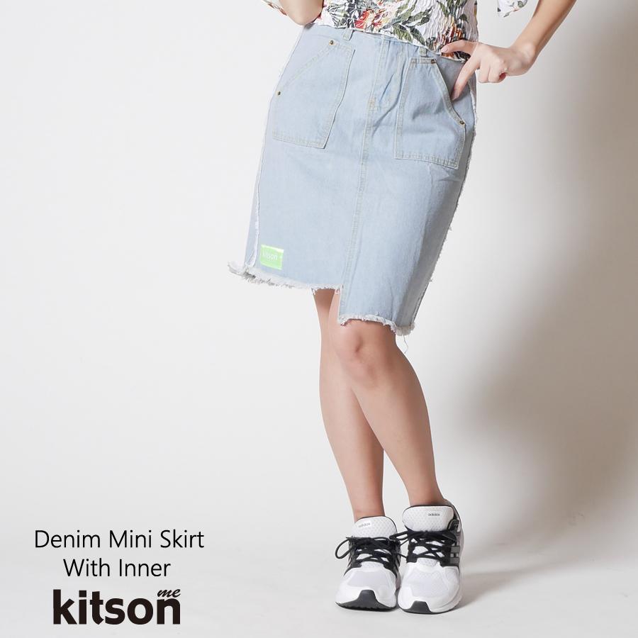 kitson me インナー付デニムミニスカート◆