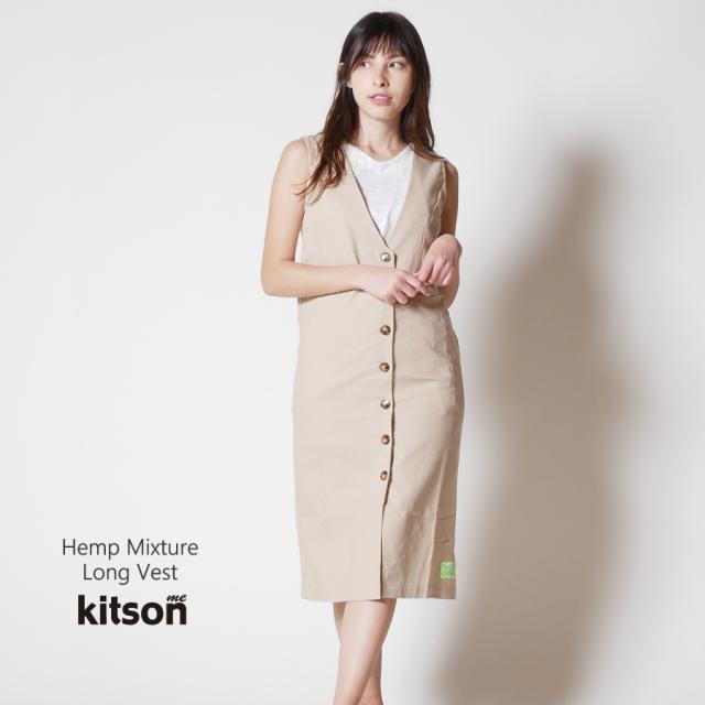 kitson me 麻混ロングベスト