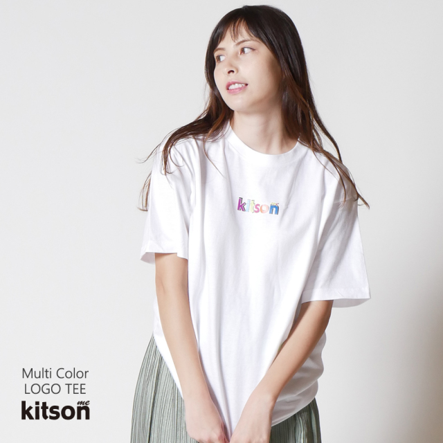 kitson me マルチカラーロゴTEE