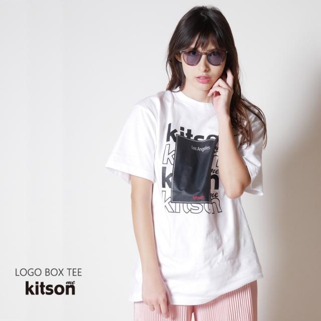 kitson me ロゴボックスTEE