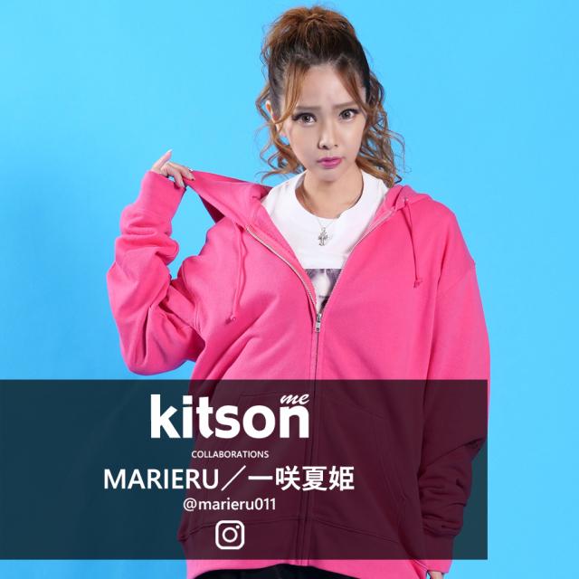 MARIERU/一咲夏姫×Kitson me  コラボZIPパーカー
