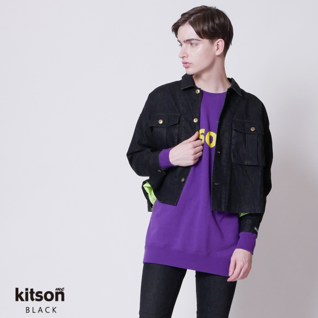 kitson me ロゴ刺繍デニムジャケット◆