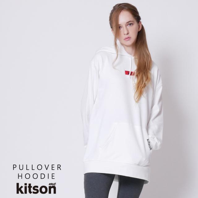 kitson me ロゴ刺繍パーカー◆