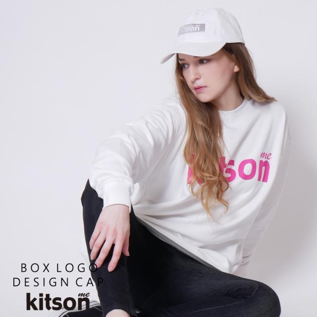 kitson me ボックスロゴキャップ◆