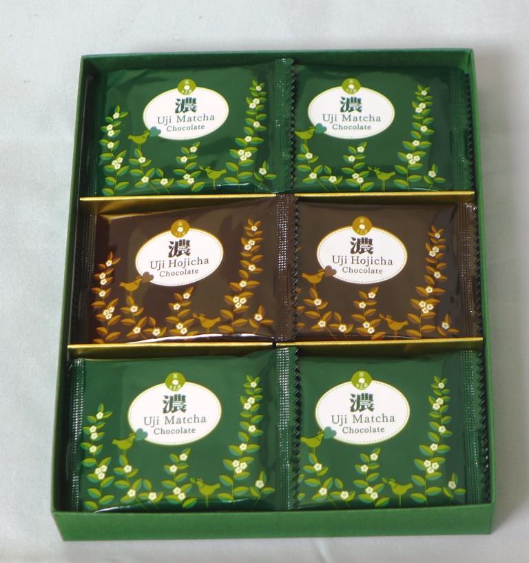宇治のチョコレート【濃】18枚入り