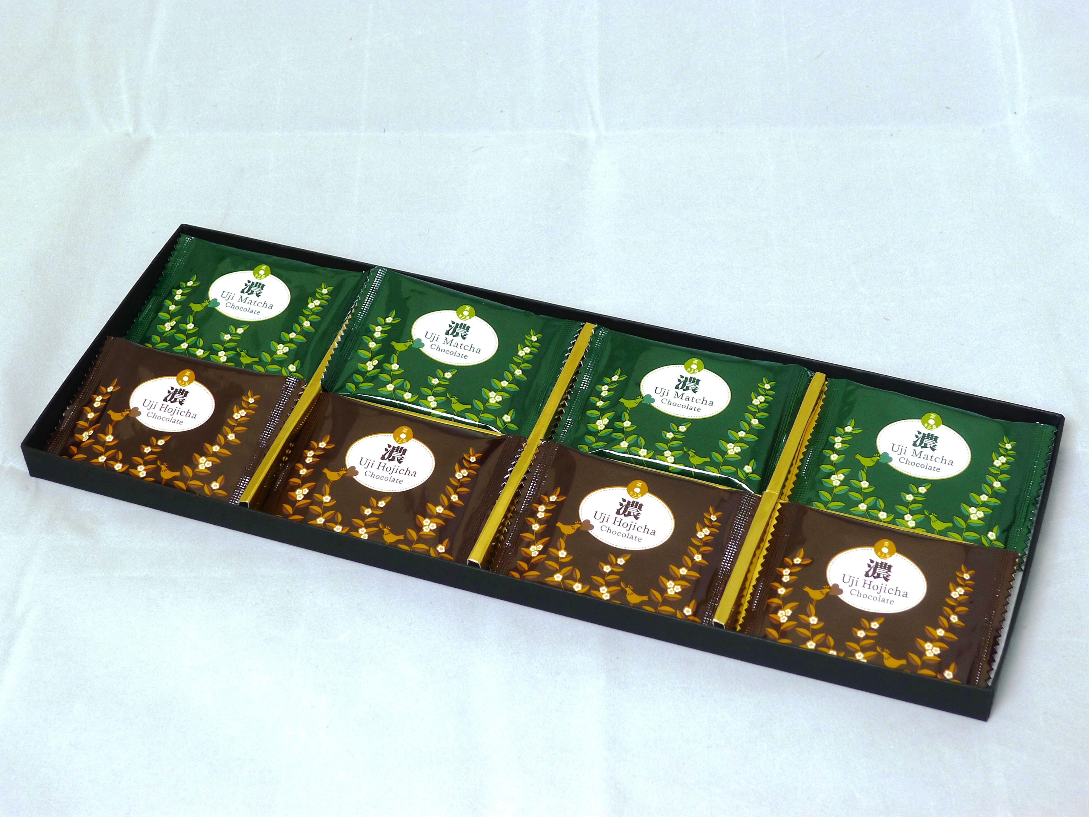 宇治のチョコレート【濃】8枚