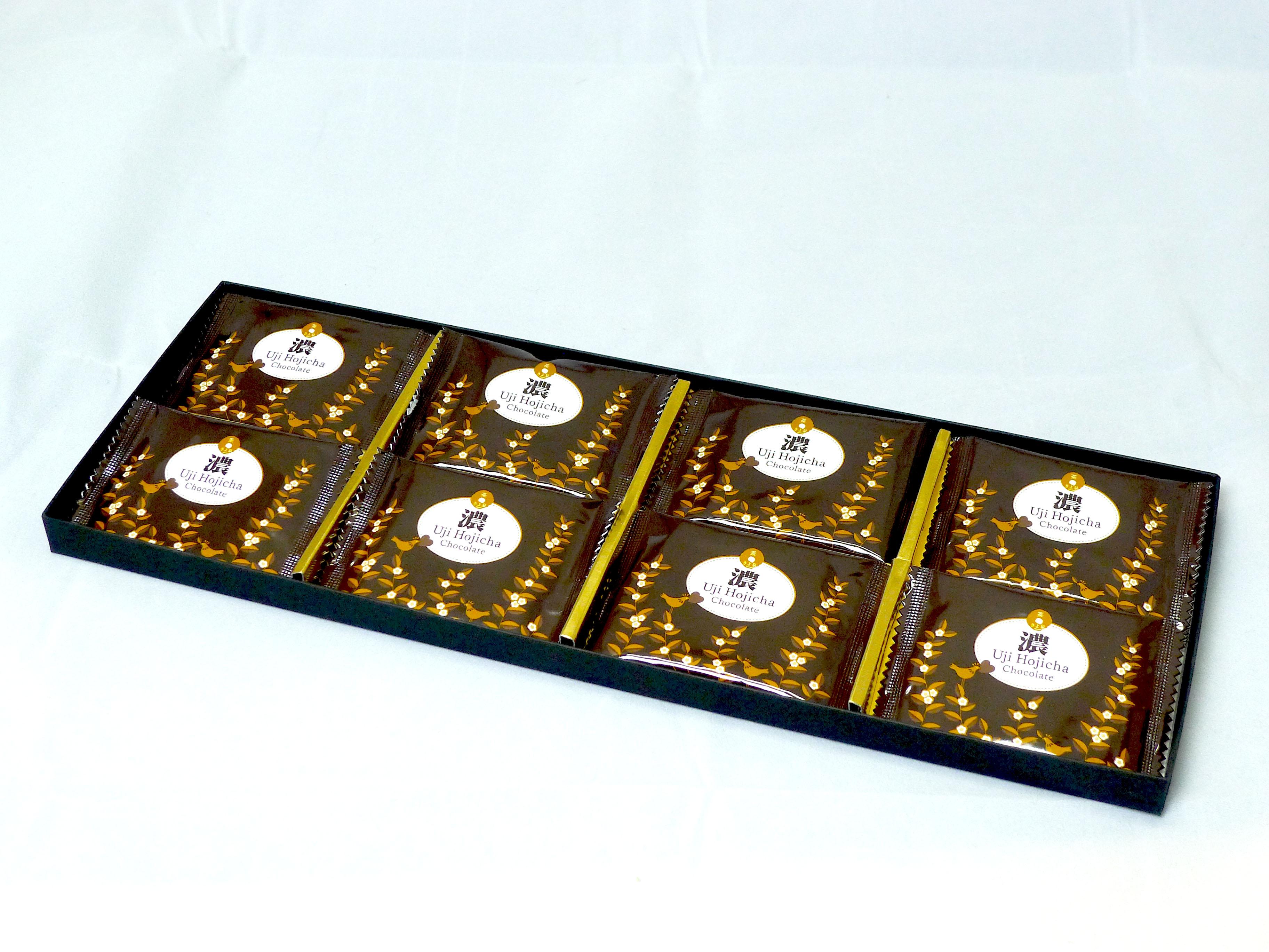 宇治ほうじ茶チョコレート【濃】8枚入り ハイグレード