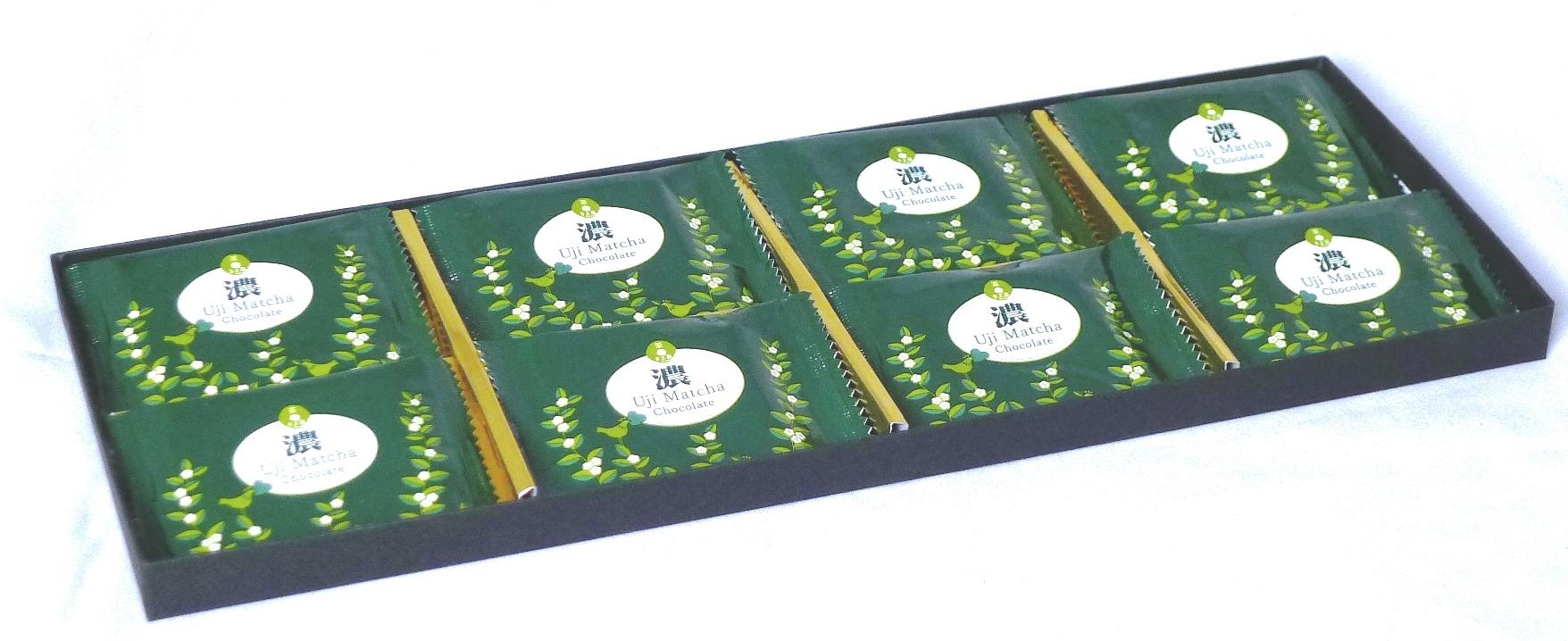 宇治抹茶チョコレート【濃】8枚入り ハイグレード