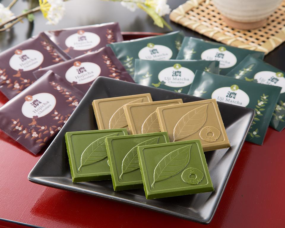 宇治のチョコレート【抹茶・ほうじ茶】18枚入り (各9枚)
