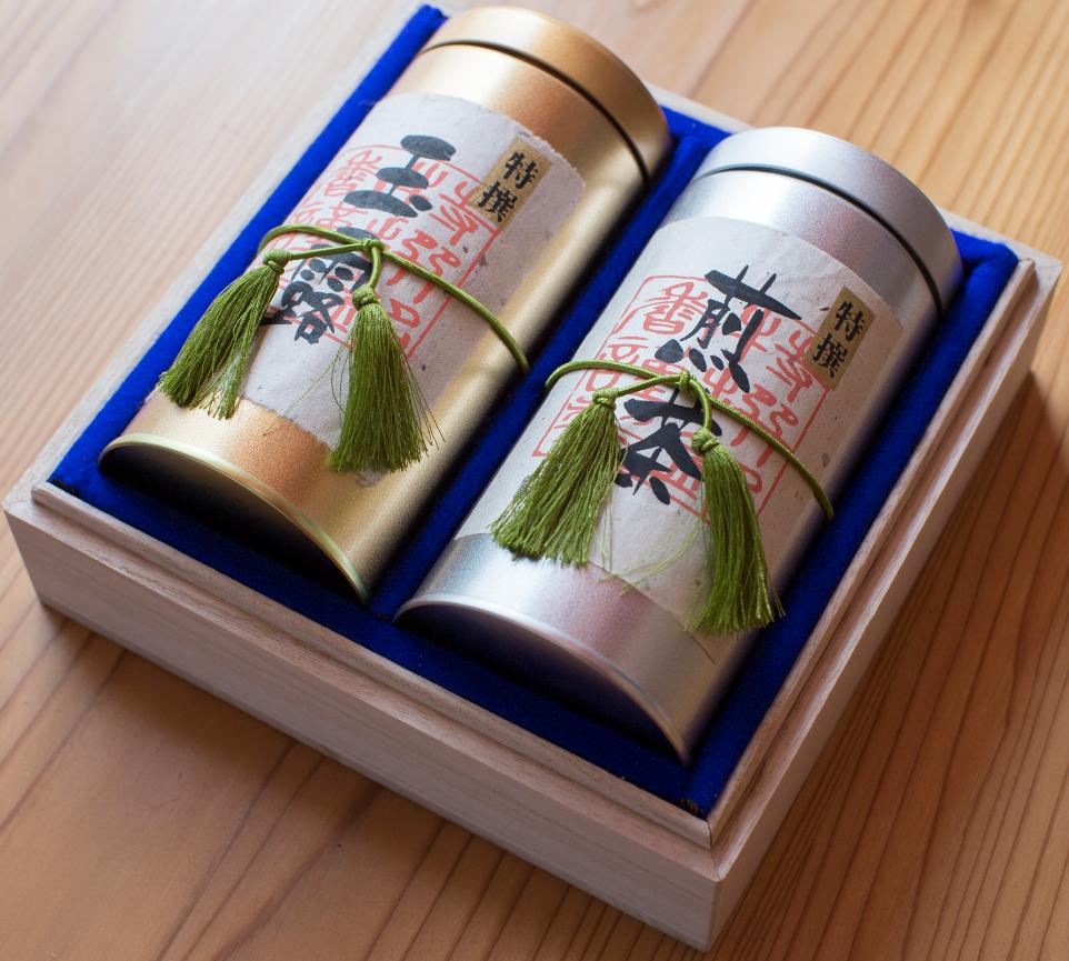 宇治茶ギフト 宇治玉露・煎茶セット (手摘み) ★送料無料