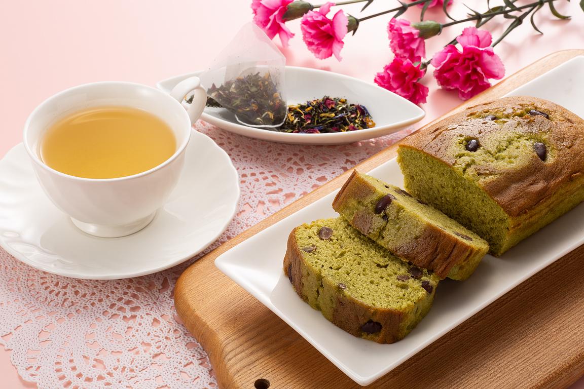 京の抹茶ケーキと宇治茶アールグレイ