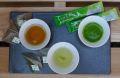 宇治茶タイム(煎茶、宇治抹茶カプチーノ【ラテ】、茎ほうじ茶) ※風呂敷包み