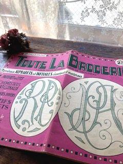 フランスアンティーク モノグラム刺繍図案集 Toute La Broderie no25