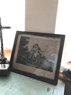 フランスアンティーク プリント画フレーム
