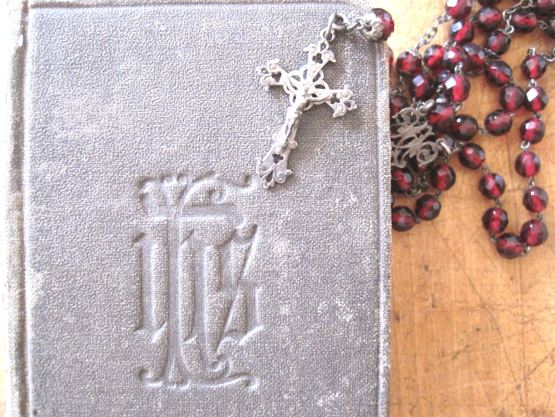 フランスアンティーク キリスト教ミサ典書 PAROISSIEN 1921年