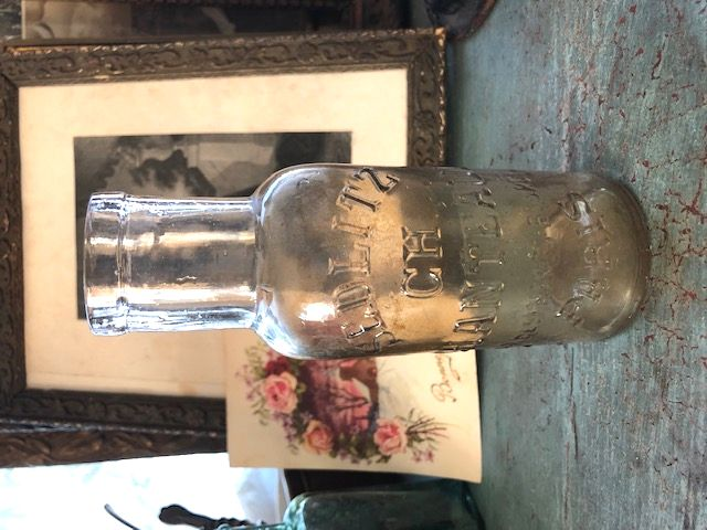 フラン合うアンティーク 1800年代のガラスボトル
