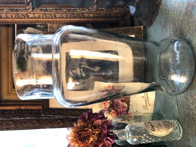 フランスアンティーク レトロガラスの花瓶
