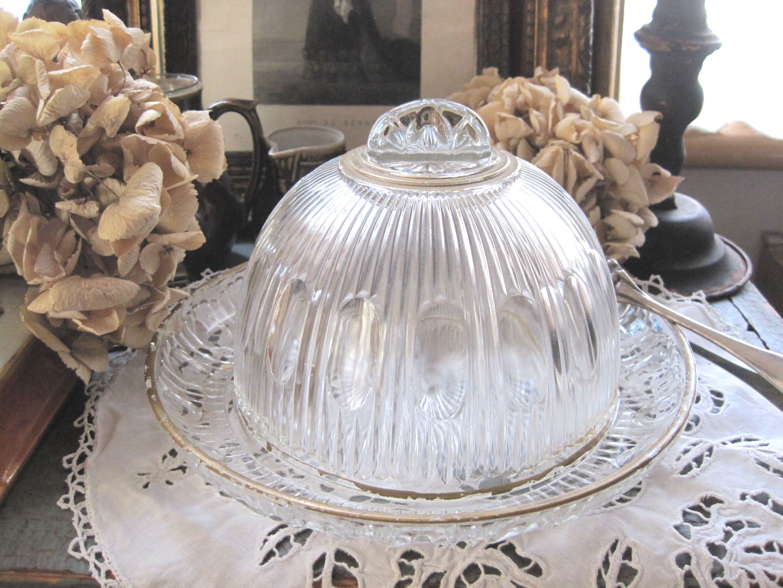 フランスアンティーク お菓子用ガラスドーム