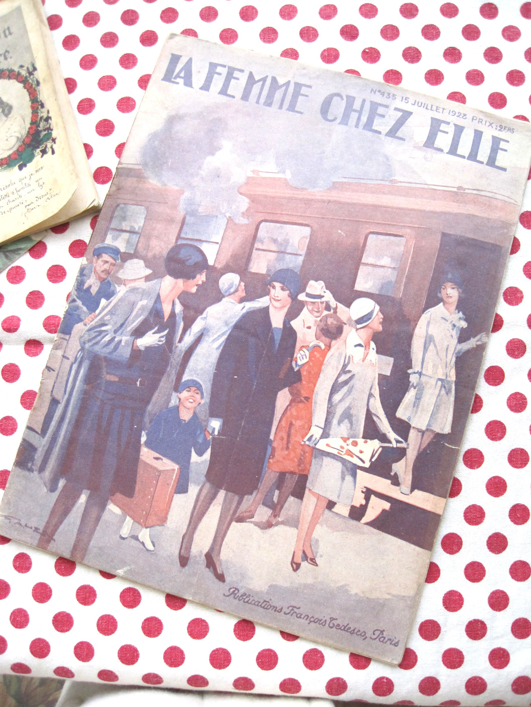 フランスアンティーク 手芸雑誌 LA FEMME CHEZ ELLE C 1928年