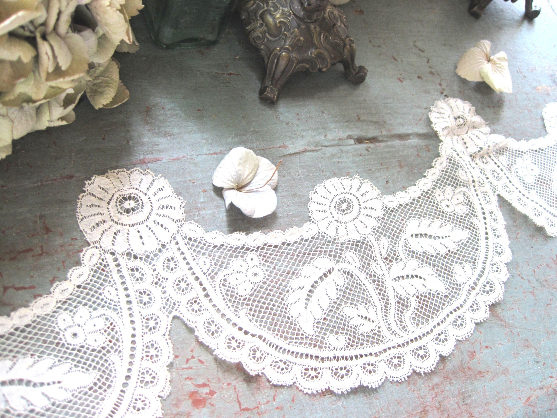 フランスアンティーク ヴァレンシエンヌレーステープ 巾10cm 1メートルカット売り