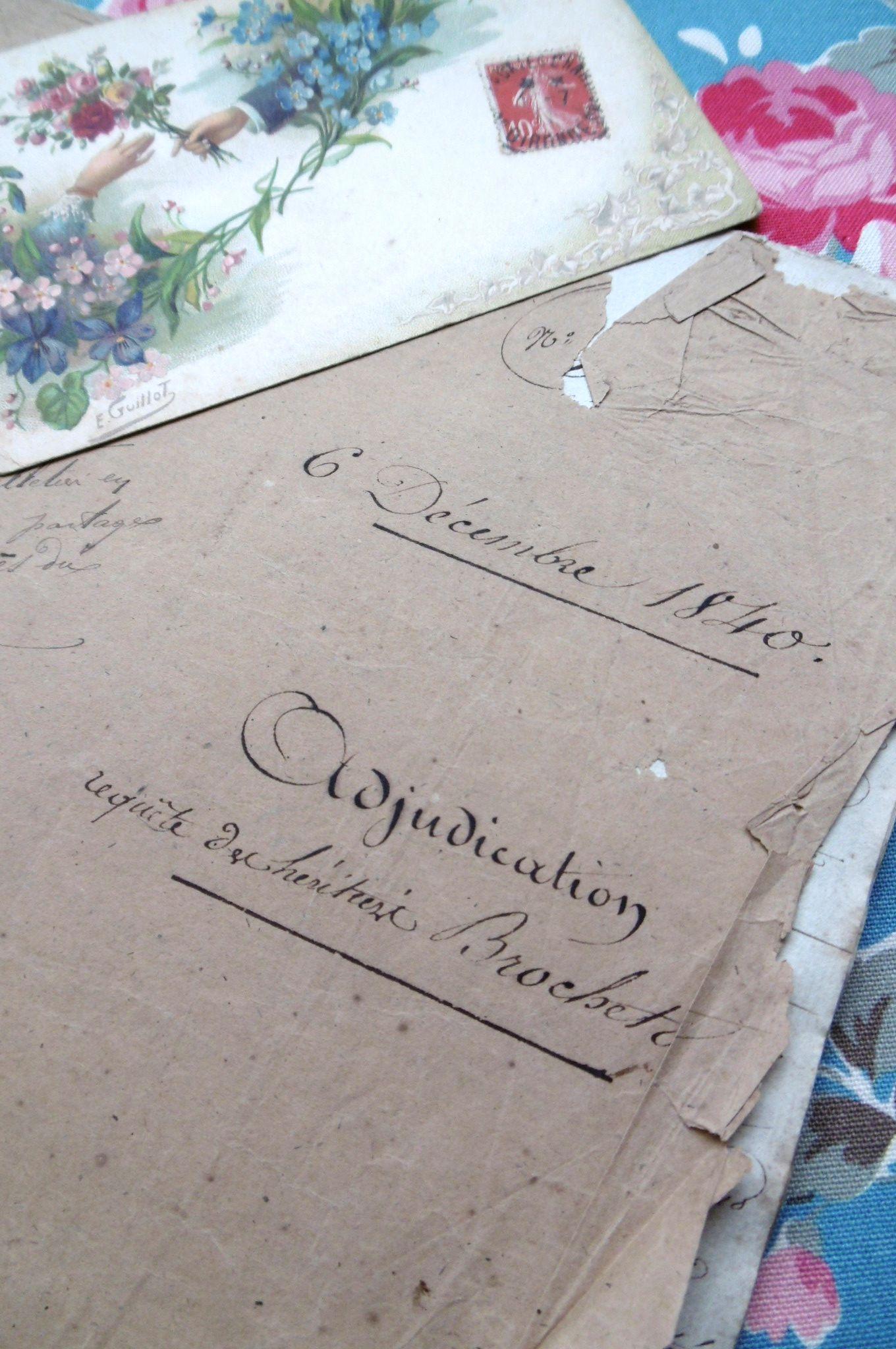 フランスアンティーク 古文書マニュスクリ 1840年 31頁