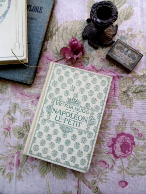 """フランスアンティーク Nの本 """"NAPOLEON LE-PETIT"""" VICTOR HUGO"""