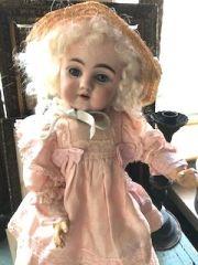 ジャーマンアンティークビスクドール 妖精の顔立ちの初期KESTNER143 H38cm