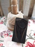 フランスアンティーク 刺繍用スタンプ チューリップ