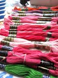 アンティーク DMC刺繍糸ボックス入り ピンク系