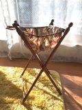 フランスアンティーク 小さなソーイングスタンド オリジナル花柄ファブリック