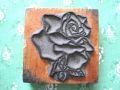 フランスアンティーク お花スタンプ バラ