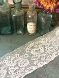 フランスアンティーク 美しいエクリュ色の幅広レーステープ 248cm