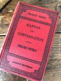フランスアンティーク 英仏語対訳辞書 MANUAL OF CONVERSATION