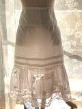 フランスアンティーク コットンレーススカート 素材 白