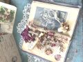 フランスアンティーク 古書とお花のコラボデコレーション 1876年