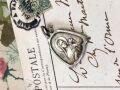 フランスアンティーク 幼きイエスの聖女テレージアシルバーメダイ ベル型