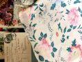 フランスアンティーク レトロな花柄コットンファブリック