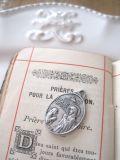 フランスアンティーク ルルドの奇跡100年記念聖母マリアメダイ