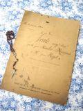 フランスアンティーク 古文書マニュスクリ 1904年