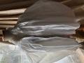 イギリスアンティーク パフスリーブの刺繍入りコットンスモックブラウス