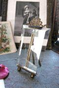 フランスアンティーク ガラスと真鍮の小さなフォトスタンド