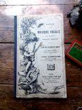 フランスアンティーク 小学校音楽テキストMUSIQUE VOCALE 1921年