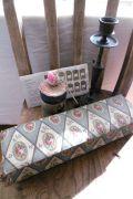 フランスアンティーク 美しいバラのファブリックのカルトナージュ