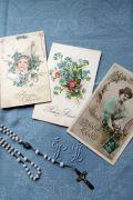 フランスアンティーク グリーティングポストカード 3pセット Bonne Annee