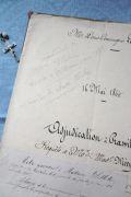 フランスアンティーク 古文書マニュスクリ 1864年