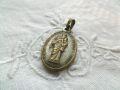 フランスアンティーク 聖母子像メダイ オーバル